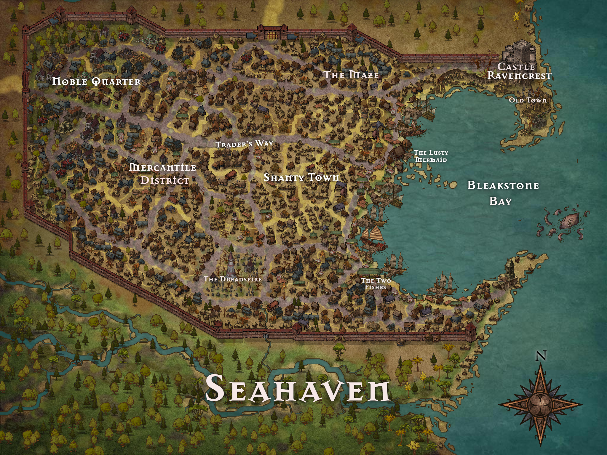 Seahaven Map